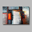 baratos Pinturas Abstratas-Pintura a Óleo Pintados à mão - Abstrato / Paisagem Contemprâneo Incluir moldura interna / Lona esticada