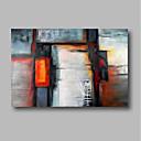 baratos Pinturas Abstratas-Pintura a Óleo Pintados à mão - Abstrato / Paisagem Contemprâneo Tela de pintura