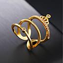 ieftine Inele la Modă-1 buc May Polly Cool Auriu / Pentru femei / Zirconiu Cubic / Band Ring / 18K Aur