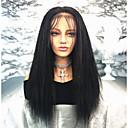 ieftine Peruci Păr Uman-Păr Remy Față din Dantelă Perucă Păr Brazilian Drept Perucă 130% Densitatea părului cu păr de păr Linia naturală de păr Noduri albite Pentru femei Lung Peruci Păr Uman