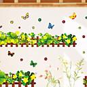 preiswerte Wand-Sticker-Dekorative Wand Sticker - Flugzeug-Wand Sticker Blumenmuster / Botanisch Badezimmer / Kinderzimmer / Waschbar / Abziehbar