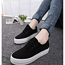 cheap Women's Sneakers-Women's Shoes Canvas Fall Comfort Sneakers Creepers Black