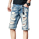 cheap Jewelry Sets-Men's Basic Jeans Pants - Solid Colored
