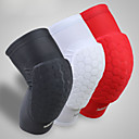 billige Festdekor-Knestøtte til Basketball / Sykkel / Løp Herre Nedslags Resistent Sport Elastan Spandex 1 stk Hvit / Svart / Rød