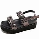 ieftine Sandale de Damă-Pentru femei PU Vară Pantof cu Berete Sandale Creepers Negru / Gri