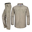 cheap Hiking Shirts-Men's Hiking Pants / Hiking Shirt Outdoor Fast Dry, Breathability Clothing Suit SBS Zipper Camping / Hiking / Caving