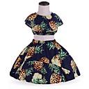 ieftine Seturi Îmbrăcăminte Fete-Copil Fete Imprimeu Fără manșon Set Îmbrăcăminte