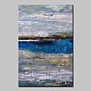 preiswerte Abstrakte Gemälde-Hang-Ölgemälde Handgemalte - Abstrakt / Landschaft Modern Segeltuch