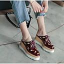 abordables Relojes Inteligentes-Mujer Zapatos Cuero de Napa Primavera verano Confort Zuecos y pantuflas Media plataforma Punta cerrada Blanco / Wine