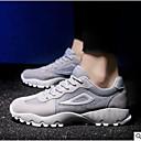 זול סניקרס לגברים-בגדי ריקוד גברים רשת קיץ נוחות נעלי ספורט שחור / אפור