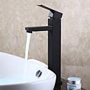 levne Koupelnové baterie-Koupelna Umyvadlová baterie - Široká baterie Černá Baterie na střed Single Handle jeden otvor