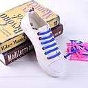 hesapli Ayakkabı Bağcıkları-1 Parça Silika Jel Ayakkabı Bağcıkları Unisex Bahar Günlük Kahverengi / Kırmzı / Mavi