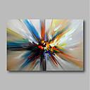 halpa Tulosteet-Hang-Painted öljymaalaus Maalattu - Abstrakti Comtemporary Moderni Sisällytä Inner Frame / Venytetty kangas