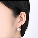ieftine Brățări la Modă-Pentru femei Zirconiu Cubic Clasic Cercei Rotunzi - Creative Simplu, Γεωμετρικά, Modă Auriu / Argintiu / Roz auriu Pentru Nuntă Dată