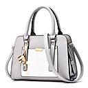 povoljno Tote torbe-Žene Torbe PU Tote torbica Patent-zatvarač Blushing Pink / Fuksija / Svjetlo siva