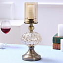 ieftine Lumânări & Suport de Lumânări-Stil European sticlă / Fier Suporturi Lumânări Candelabra 1 buc, Lumânare / Suport pentru lumânări
