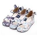 preiswerte Kronleuchter-Schuhe Niedlich Prinzessin Keilabsatz Schuhe Muster 5 cm CM Weiß / Purpur / Blau Für PU Halloween Kostüme
