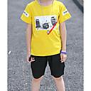 tanie Zestawy ubrań dla chłopców-Dzieci Dla chłopców Podstawowy Geometric Shape / Nadruk Krótki rękaw Bawełna / Spandeks Komplet odzieży Biały