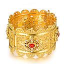 Χαμηλού Κόστους Μοδάτο Δαχτυλίδι-Γυναικεία Γλυπτό Βραχιόλια Χειροπέδες Βραχιόλια Επιχρυσωμένο κυρίες Etnic Βραχιόλια Κοσμήματα Χρυσό Για Πάρτι Δώρο