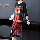 tanie Szpilki-Damskie Puszysta Wyjściowe Moda miejska / Wyrafinowany styl Luźna Linia A Sukienka - Geometric Shape Midi / Lato