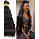 cheap Drinkware Accessories-3 Bundles Indian Hair Straight Human Hair Natural Color Hair Weaves / Hair Bulk / Extension / Hair Accessory 8-28 inch Human Hair Weaves Machine Made Easy dressing / Extention / Natural Human Hair