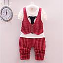 ieftine Pantaloni Băieți-Bebelus Băieți Casual / De Bază Zilnic / Sport Alb negru Carouri Manșon Lung Regular Regular Bumbac / Acrilic / Spandex Set Îmbrăcăminte Roșu-aprins 100 / Copil