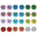 ieftine Ceasuri La Modă-Pentru femei Cristal Zirconiu Cubic Funie Cercei Stud - De Bază Curcubeu Pentru Zilnic / 12 perechi