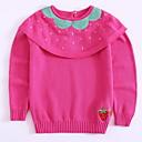 preiswerte Pullover & Strickjacken für Mädchen-Baby Mädchen Aktiv Alltag Frucht Druck Langarm Standard Baumwolle Pullover & Cardigan Rosa