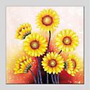 baratos Pinturas a Óleo-Pintura a Óleo Pintados à mão - Floral / Botânico Modern Incluir moldura interna / Lona esticada