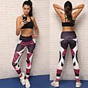 זול בגדי ריצה-בגדי ריקוד נשים הדפס נמר מכנסי יוגה - הדפס נמר ספורט טייץ רכיבה על אופניים / חותלות ריצה, כושר וספורט לבוש אקטיבי נשימה, דחיסה סטרצ'י (נמתח)