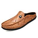 זול נעלי ספורט לגברים-בגדי ריקוד גברים מוקסין PU סתיו סוגי כפכפים שחור / אפור / צהוב