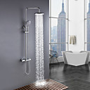 cheap Bathroom Sink Faucets-Shower Faucet - Contemporary Chrome Shower System Ceramic Valve