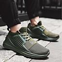 billige Sneakers til herrer-Herre joggesko PU Vandring / Løp / Jogging Træner, Pusteevne, Anvendelig Netting Svart / Militærgrønn / Rød