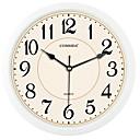 זול שעוני קיר מוטבעים בציורי קנבס-סגנון מודרני פלסטי עגול בבית,סוללות AA