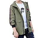 ieftine Seturi Îmbrăcăminte Băieți-Copii Băieți De Bază / Șic Stradă Sport Imprimeu Imprimeu Manșon Lung Bumbac Pardesiu
