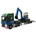 billige Toy Trucks & Construction Vehicles-Lekebiler Gravemaskin Kjøretøy Transportør Truck By Utsikt Kul utsøkt Metall Teenager Alle Gutt Jente Leketøy Gave 1 pcs
