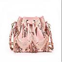cheap Totes-Women's Bags PU(Polyurethane) Shoulder Bag Zipper Black / Blushing Pink / Light Gray