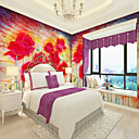 cheap Smartwatch Accessories-Wallpaper / Mural Canvas Wall Covering - Adhesive required Floral / Art Deco / 3D