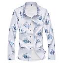 baratos Adesivos Decorativos para Automotivo-Homens Camisa Social Básico Floral