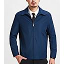 ieftine Maieu & Tricouri Bărbați-Bărbați Mărime Plus Size Jachetă Sport Mată / Manșon Lung