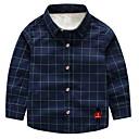 ieftine Seturi Îmbrăcăminte Băieți-Copil Băieți De Bază Mată Manșon Lung Poliester Cămașă Alb 100