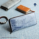 cheap Primer-Women's Bags Nappa Leather Wallet Zipper Blue / Green / Gray