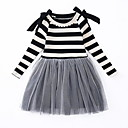 ieftine Seturi Îmbrăcăminte Fete-Copii Fete Activ / De Bază Dungi Manșon Lung Rochie