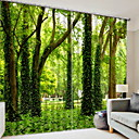 cheap Window Film & Stickers-3D Curtains Bedroom Geometric Polyester Printed / Blackout