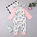 ieftine Set Îmbrăcăminte Bebeluși-Bebelus Fete Activ / De Bază Sport Floral Manșon Lung Bumbac O - piesă / Copil