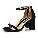 cheap Women's Heels-Women's Shoes Faux Leather Summer D'Orsay & Two-Piece Sandals Chunky Heel Open Toe Buckle Yellow / Brown / Red