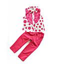billige Tøjsæt til piger-Baby Pige Gade Daglig / Skole Prikker Pailletter Uden ærmer Normal Normal Bomuld / Polyester Tøjsæt Rosa
