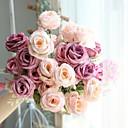 halpa LED-hehkulamput-Keinotekoinen Flowers 1 haara Klassinen Rustiikki / Hääkukat Ruusut Pöytäkukka