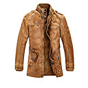 cheap Tattoo Transfers & Supplies-Men's Practice / Work Winter / Fall & Winter Regular Leather Jacket, Solid Colored Stand Long Sleeve PU / Polyester Gray / Yellow XXL / XXXL / 4XL