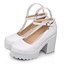 povoljno Ženske sandale-Žene PU Ljeto Cipele Mary Jane Sandale Platformske cipele Okrugli Toe Kopča Crn / Bež / Crvena